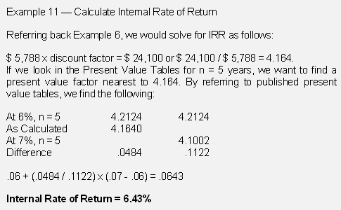 how to calculate npv and irr. In our example, the IRR